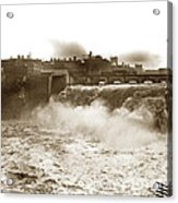 High Falls On The Genesee River Rochester New York At Flood Stage Circa 1904 Acrylic Print
