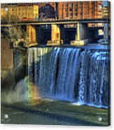 High Falls Rainbow Acrylic Print