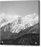High Himalayas - Black And White Acrylic Print