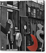 High Line Joy Black And White Acrylic Print