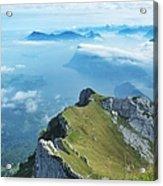 High On Nature At Mt. Pilatus Acrylic Print
