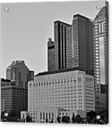 Columbus Close Up Black And White Acrylic Print