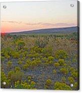 High Plains Desert Landscape Acrylic Print