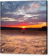 High Plains Sunrise Acrylic Print by Ric Soulen