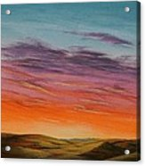 High Plains Sunset Acrylic Print