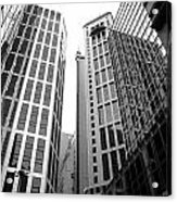 High Rise Building In The Financial Center Of Hong Kong Acrylic Print