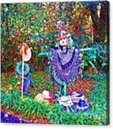 High Satch Scarecrow In A Hat Acrylic Print