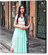 High School Senior Portrait French Quarter New Orleans Acrylic Print