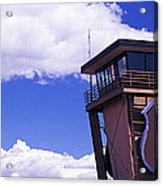 High Section View Of Railroad Tower Acrylic Print