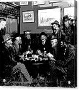 High Stakes Poker - 1913 Acrylic Print