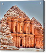 High Temple At Petra Acrylic Print