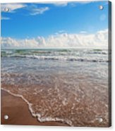 High Tide In South Padre  Acrylic Print