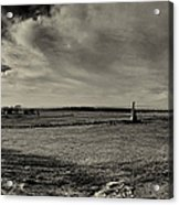 High Tide Of The Confederacy Black And White Acrylic Print