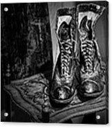 High Top Shoes - Bw Acrylic Print