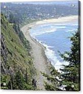 High View Of Oregon Coast Acrylic Print