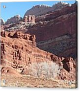 High Wall Of Red Cliffs Acrylic Print