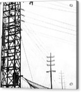 High Wire Suicide Rescue Acrylic Print