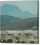 High And Low Mountain Layers Acrylic Print