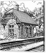 Highlands Train Station Acrylic Print