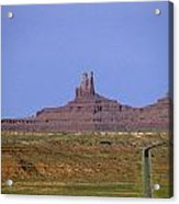 Highway 163 Leading Into Monument Valley With Rock Formations In Acrylic Print
