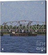 Highway 41 Swing Bridge Over The Wando River Acrylic Print