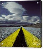 Highway Through Death Valley Acrylic Print
