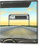 Highway Acrylic Print