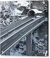 Higway Tunnel With A Bridge Acrylic Print