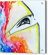 Hijab Veil Acrylic Print by Salwa  Najm