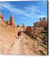 Hike In Bryce Canyon Acrylic Print