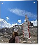 Hiker Find The Way Acrylic Print