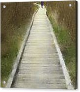 Hikers On Appalachian Trail Acrylic Print