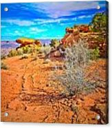 Hiking In Canyonlands Acrylic Print