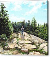 Hiking In Maine Acrylic Print