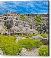 Hiking In The Badlands Acrylic Print