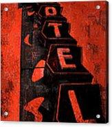 Hilander Motel Lll Acrylic Print