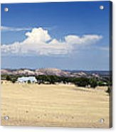 Hill Country And Enchanted Rock Panorama Acrylic Print