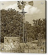 Hill Country Windmill Acrylic Print