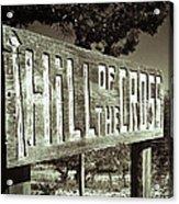 Hill Of The Cross Acrylic Print