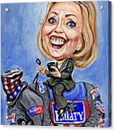Hillary Clinton 2016 Acrylic Print by Mark Tavares