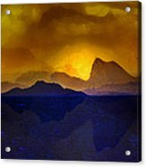 Hills In The Distance At Sunset Acrylic Print