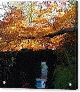 Hillwood Mansion Fall Garden Acrylic Print