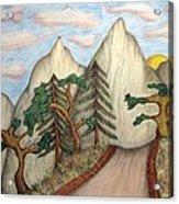 Himalaya Dharamkot Path Acrylic Print