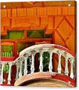A Beautiful Balcony - Himalaya India Acrylic Print