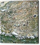 Himalaya Mountains Asia True Colour Satellite Image  Acrylic Print