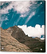 Himalyas Mountains In Tibet With Clouds Acrylic Print by Raimond Klavins