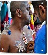 Hindu Devotees Prepare For Thaipusam Festival Singapore Acrylic Print