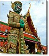 Hindu Figure At Grand Palace Of Thailand In Bangkok Acrylic Print