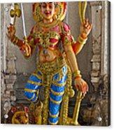 Hindu Goddess Durga On Lion Acrylic Print
