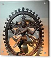 Hindu Statue Of Shiva In Nataraja Dance Pose Acrylic Print